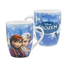 Frozen Elsa, Anna & Olaf Snow Scene Barrel Mug