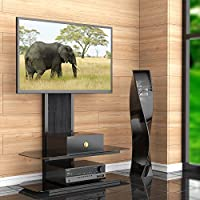 Fitueyes Tv Stand with Swivel Mount Bracket for 42-70 Inch Tvs/xbox One/tv Component TT210001GB