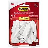 Command Wire Hooks Value Pack, Medium, White, 7-Hooks (17068-7ES)