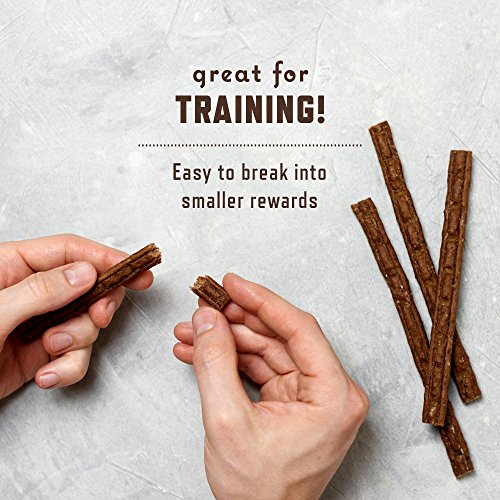Rocco & Roxie - Jerky Dog Treats Made in USA – Puppy Training Treat Slow Roasted Snacks for Dogs - Natural Grain Free Soft Chews - Delicious and Healthy Jerkey Sticks - All USDA Inspected Beef