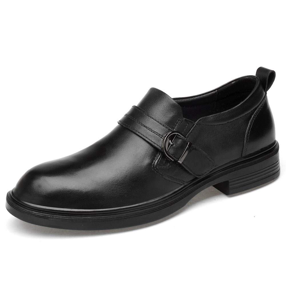 Schwarz Herren Classic Honourable Oxfords Business Oxford Schuhe for Mau ;nner Formelle Schuhe Runde Kappe Aus Echtem Leder Atmungsaktiv Rutschfeste Leichte Einfache Reine Farbe Schuhe Retro Temperament Oxfords