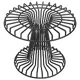 MyGift 7-inch Matte Black Metal Wire Pedestal Pizza Pie Display Riser Stand