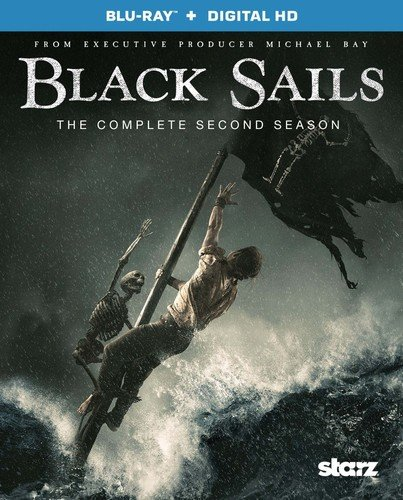 Blu-ray : Black Sails: The Complete Second Season (Ultraviolet Digital Copy, 3 Pack, 3 Disc)
