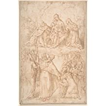 "Drawing ""Saint Dominic Giving the Rosary to Pope Pius V"" 