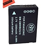 Replacement DMW-BCG10 Battery For Panasonic Lumix DMC-ZS5 DMC-ZS7 DMC-ZS8 DMC-ZS9 DMC-ZS10 DMC-ZS15 DMC-ZS19 DMC-ZS20 DMC-ZS25 DMC-TZ6 DMC-TZ7 DMC-TZ8 DMC-TZ10 DMC-TZ18 DMC-TZ19 DMC-TZ20 DMC-ZR1 DMC-ZR3 Digital Camera + More!!