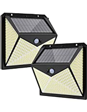 Lampy solarne na zewnątrz z czujnikiem ruchu, lampy solarne LED na zewnątrz, super jasne lampy solarne do użytku na zewnątrz, wodoszczelne, solarne lampy ścienne do ogrodu