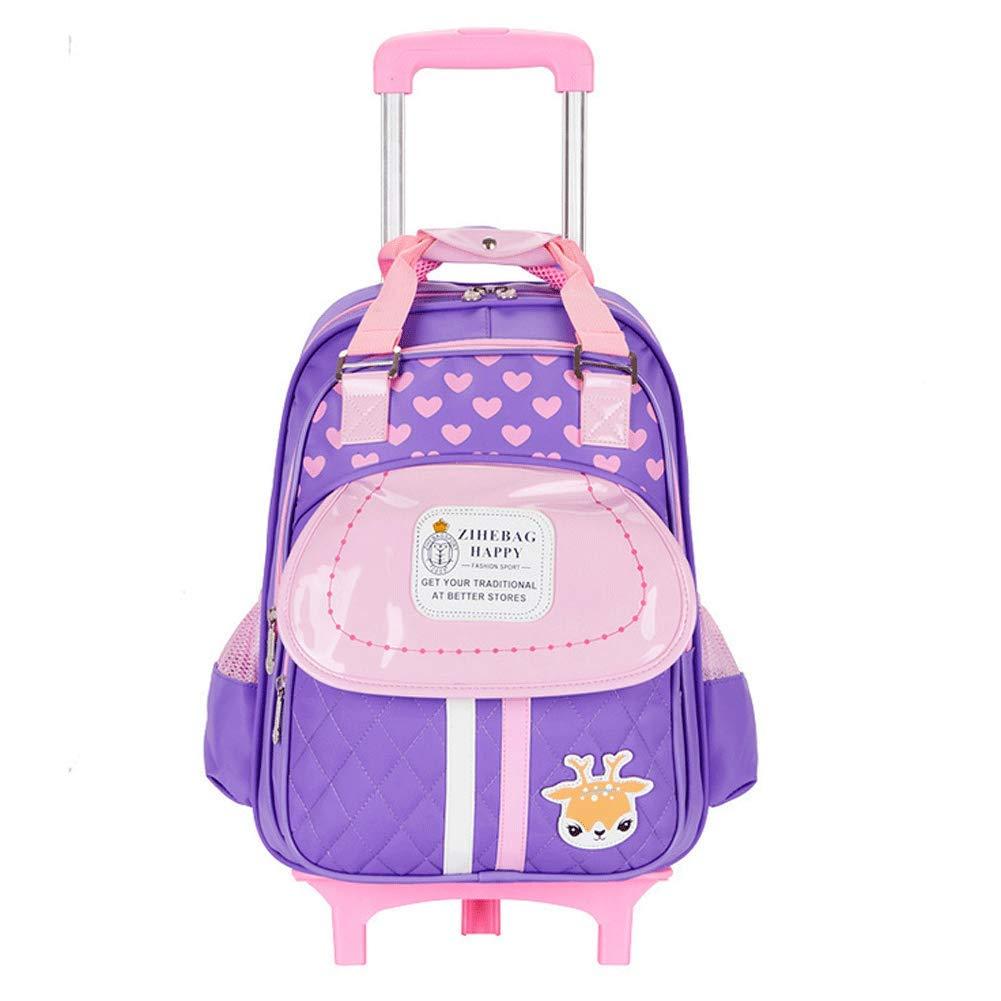 oferta especial púrpura XXQ Alumnos con Bolsa Trolley, 2 2 2 Rondas Infantiles de niños y niñas, Bolsa de Remolque, Bolsa de Hombro Doble de 17 Pulgadas  salida