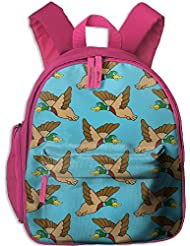 Flying Mallard Ducks Toddler Kids Backpack Preschool Backpack Navy Mini Backpack