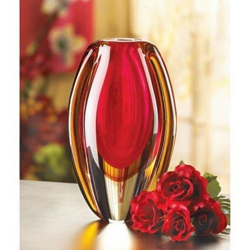 Gifts & Decor Sunfire Decorative Glass Vase Centerpiece