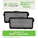 2 HEPA Filters for Fits Miele S400/S500 Series Canister Vacuums; Compare to Miele Part No. SF-AH50; Designed & Engineered by Crucial Vacuum