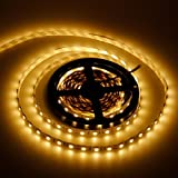 Lemonbest 16.4FT 5050 Non-Waterproof SMD 300 Leds DIY Cuttable LED Ribbon Strip Light 12V With Adhesive Back, Warm White