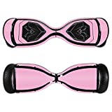 MightySkins Protective Vinyl Skin Decal for Swagtron T5 Hover Board Self Balancing Smart Scooter wrap cover sticker skins Solid Pink