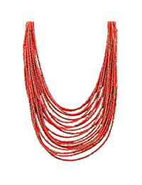 Indian Jewelry Hot Selling Design Tibetan Fashion Five Colors Multilayer Beads Necklaces