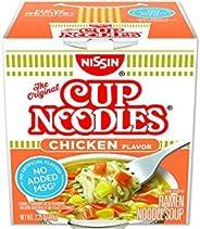Nissin Cup Noodles Ramen Noodle Soup, Chicken Flavor 2.25 Ounce (Pack of 6)