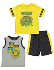 """TMNT Little Boys' Toddler """"Manhole Pose"""" 3-Piece Outfit"""