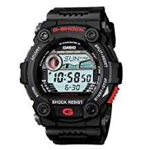 Casio G7900-1 Men's G-Shock Rescue Stainless Black Rubber Strap Black Dial Watch