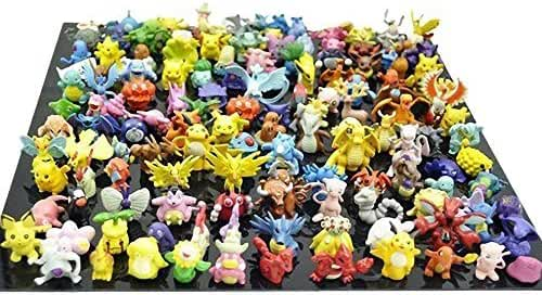 OliaDesign Pokemon Pikachu Monster Mini Plastic Figure (24 Piece), Small