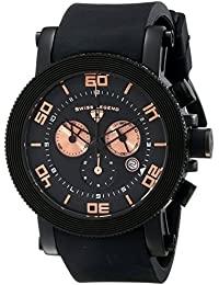 Mens 30465-BB-01-RA Cyclone Analog Display Swiss Quartz Black Watch