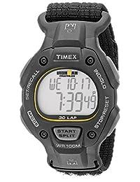 Timex Men's T5K693 Ironman Classic 30 Full-Size Black/Yellow Fast Wrap Strap Watch