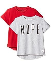 Girls' 2-Pack Short-Sleeve Round-Hem T-Shirt