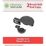 Brushroll End Caps for Dyson DC24 Vacuums; Compare to Dyson Part Nos. 915934-01 & 10-3605-06; Designed & Engineered by Think Crucial