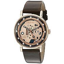 August Steiner Men's AS8183RGBR Analog Display Japanese Quartz Brown Watch