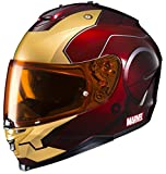 HJC Helmets Marvel IS-17 Unisex-Adult Full Face IRONMAN Street Motorcycle Helmet (Red/Yellow, X-Small)