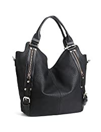 JOYSON Women Handbags Hobo Shoulder Bas Tote PU Leather Handbags Fashion Large Capacity Bags
