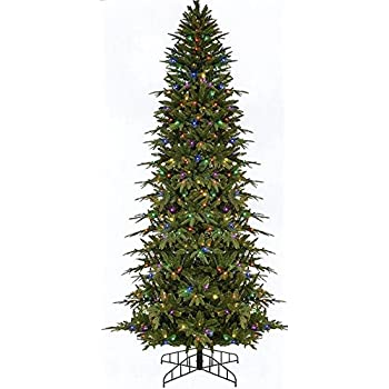 Bethlehem Lighting GKI Pre-Lit Slim Palisade Artificial Christmas Tree with  Multicolored LED Lights, - Amazon.com: Bethlehem Lighting GKI Pre-Lit Slim Palisade Artificial