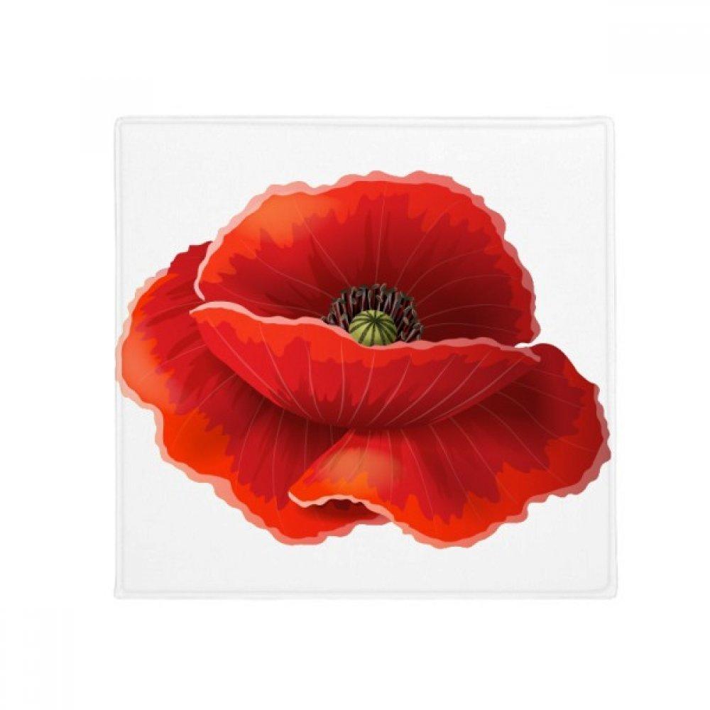 DIYthinker Red Flower Painting Corn Poppy Art Anti-Slip Floor Pet Mat Square Home Kitchen Door 80Cm Gift