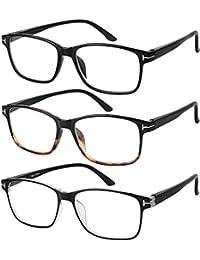 anteojos de Lectura 3 pair elegante Calidad Lectores Primavera Bisagra anteojos para leer para hombres y mujeres