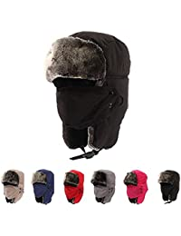 Winter Trooper Trapper HuntingHat Cap Ushanka Russian Hats Ear Flaps Strap with Windproof Facemask