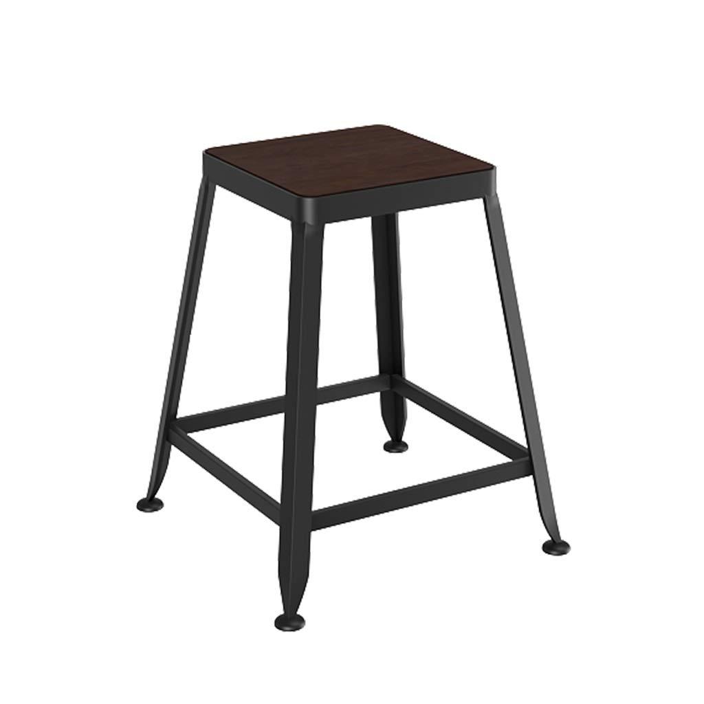 80CM LAXF-tabourets hauts chaise haute bar cuisine nord Tabouret de bar de haute qualité en fer forgé de style bar en bois massif de haute qualité peut être utilisé dans la cuisine salle à hommeger comptoir