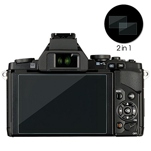 Awinner Glass Compatible with Olympus OM-D E-M10 Mark III II E-M5 Mark II Pen-F E-P5 E-PL8 E-PL7 E-PL9 Camera Screen Protector Anti-Scratch Tempered Glass (2-Pack)