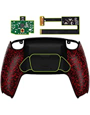 eXtremeRate Textured Red Back Paddles Programable Rise Remap Kit for PS5 Controller BDM-010, Upgrade Board & Redesigned Back Shell & Back Buttons Attachment for PS5 Controller - Controller NOT Included