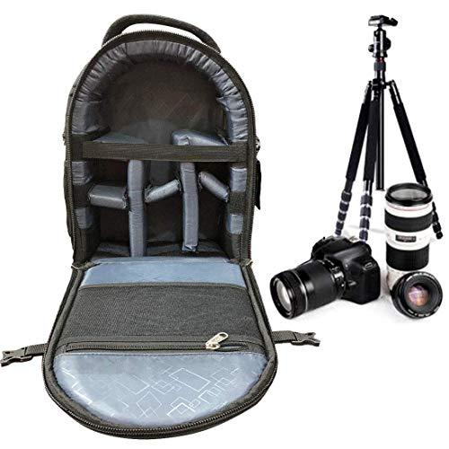 Priyam® Backpack for SLR/DSLR Cameras and Accessories – Black
