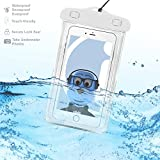 BLU Energy X Plus 2 White TRANSPARENT Underwater Protection Touch Responsive Dry Bag Case Cover for BLU Energy X Plus 2