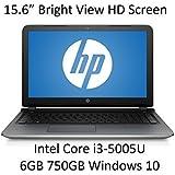 2016 Newest HP Flagship Premium 15.6-Inch Laptop Intel Core i3-5005U, 6GB RAM, 750GB HDD, HD WLED Backlit Display...