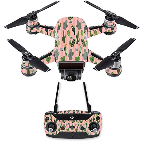 MightySkins Skin for DJI Spark Drone & Controller - Cactus Garden | Protective, Durable, and Unique Vinyl Decal wrap Cover | Easy to Apply, Remove, and Change Styles | Made in The USA