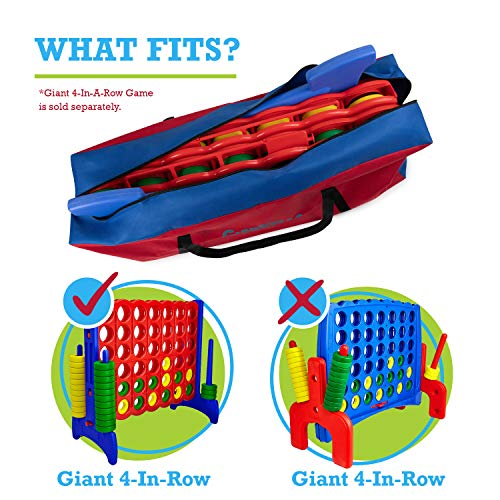 Giant 4 in A Row Carry and Storage Bag - (Game Not Included) - Carrying Bag for Life Size 4 in a Row Game - Easily Transport / Store Jumbo 4 in a Row Game - Take Your Four-in-a-Row Anywhere
