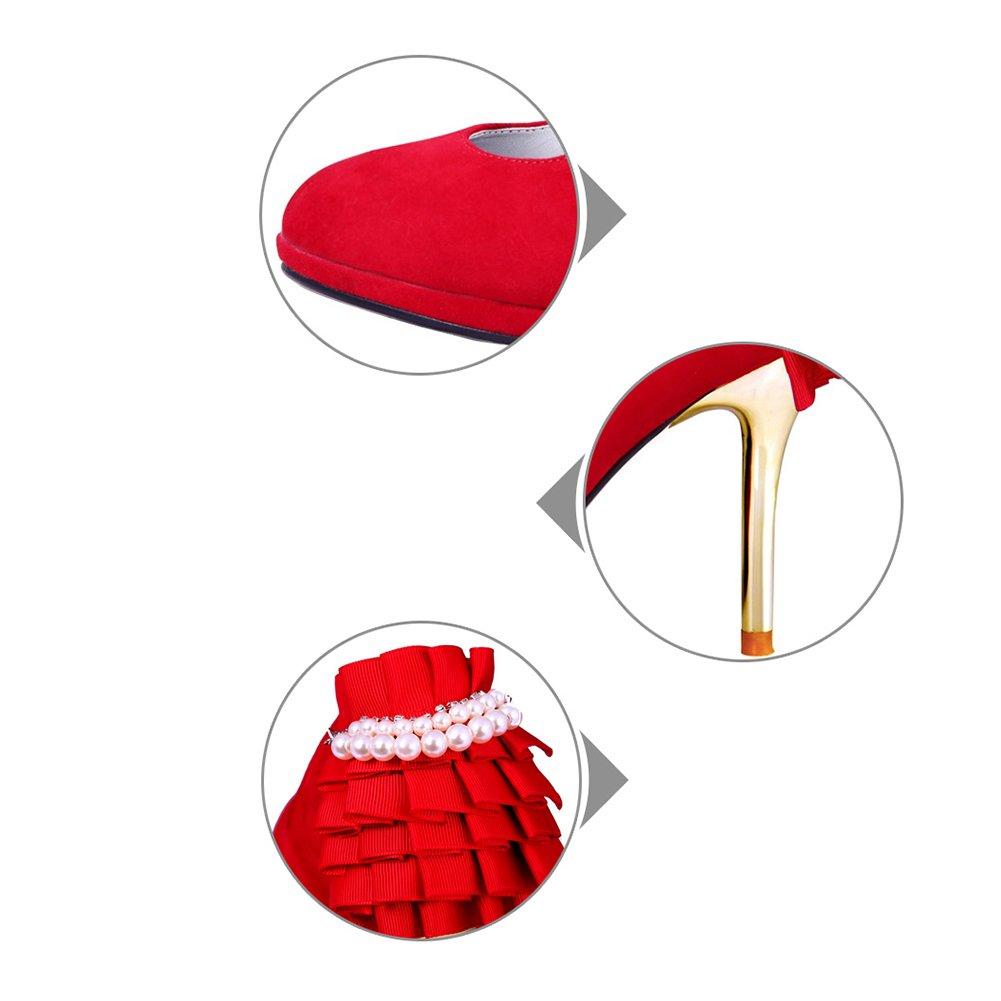 Pumps XUERUI Hochzeitsschuhe der hohen der Schuhe der hohen roten Schuhe der sexy Braut Bequeme (größe   EU36 UK3.5 CN35) 675964