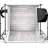 Qintec Wood Photo Backdrops Wooden Background Backdrops for Photography Videos Studio Shooting 5x7ft