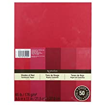 Recollections Cardstock Red 5 Shades 50 Sheets 8.5x11 by Recollections