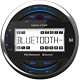 Boat Package: Dual MP3 USB Bluetooth Gauge Receiver, 8 2-Way Marine Speaker, 1200-Watt 4 Channel Amp, 10 Subwoofer w/ LED, 5-Channel Amp, 8-G Amp Install Kit, Dual Marine AM/FM Antenna