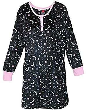 Hanes Women's Plush Print Sleepshirt Nightgown!