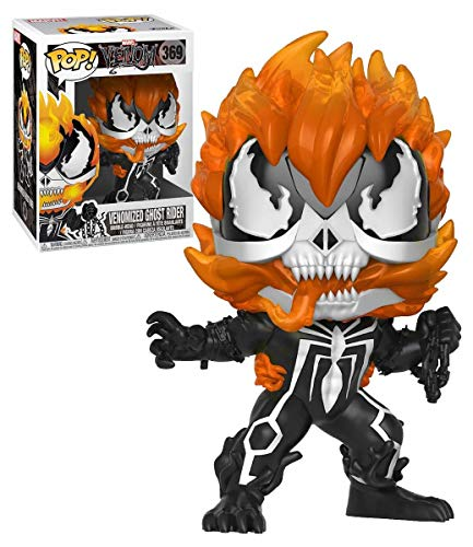 Marvel Funko Pop Venom Venomized Ghost Rider #369 Vinyl Figure Featuring Special Edition Stic