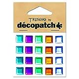 Decopatch 7 x 10 cm Acrylic Plastic Squares, Set of 20, Multi-Colour