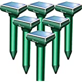 Apello 6 Pack Mole Repellent Mole Repeller Solar Powered Gopher Repellent Ultrasonic Vole Repellant Gopher Repellent Rodent Deterrent No Mole Traps Killer Harm to Your Lawn Yard