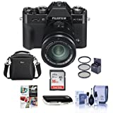 Fujifilm X-T20 24.3MP Mirrorless Digital Camera XC 16-50mm f/3.5-5.6 OIS II Lens, Black - Bundle camera Case, 16GB SDHC Card, 58mm Filter Kit, Cleaning Kit, Card Reader, Software Package