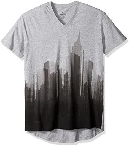 A|X Armani Exchange Men's Vneck City Graphic Jersey Tee